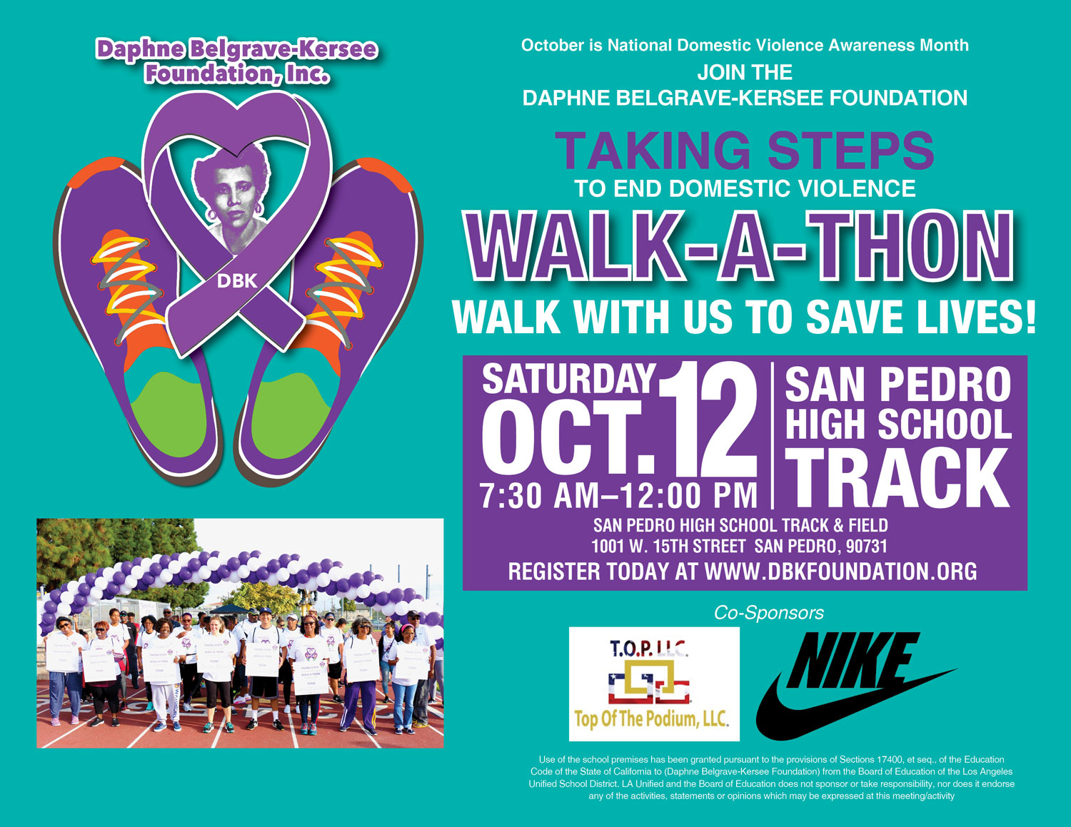 2019 Taking Steps to End Domestic Violence Walk-a-Thon – DBK